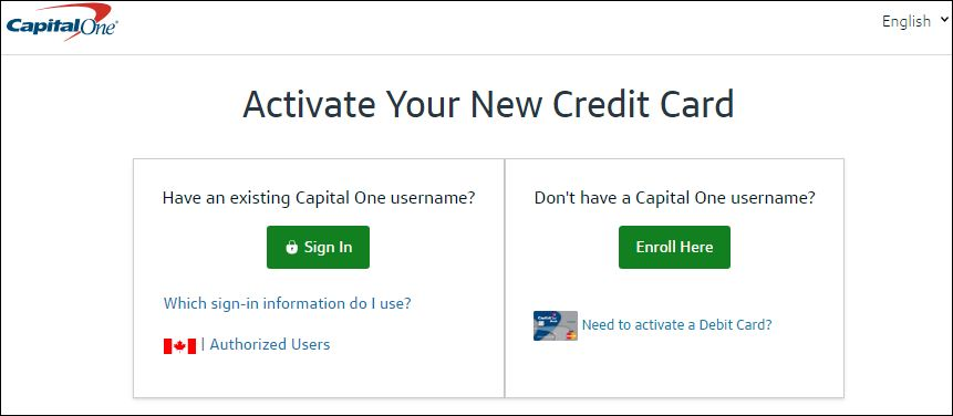 activate capital one card