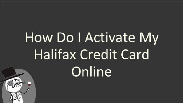 halifax credit card activate online