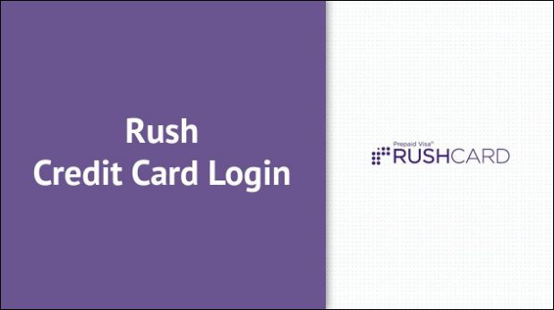 rush credit card login