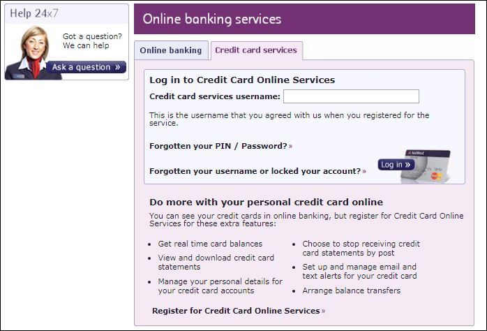 Login natwest credit card