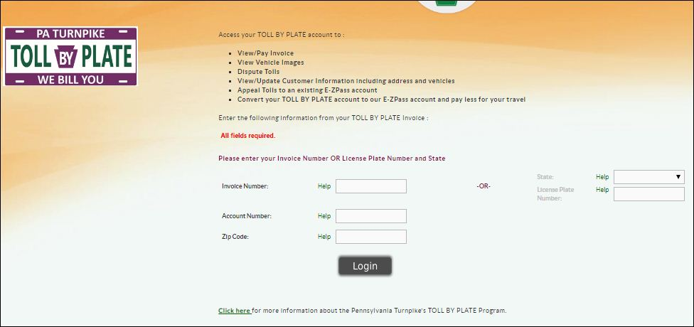 Pennsylvania Turnpike EZ Pass Login