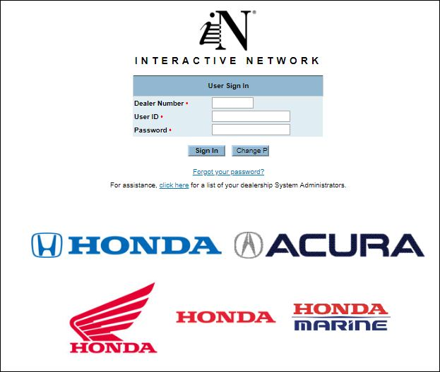 Honda Interactive Login