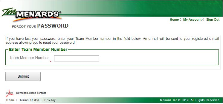 TM Login Menards