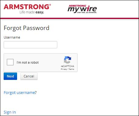 armstrongmywire login