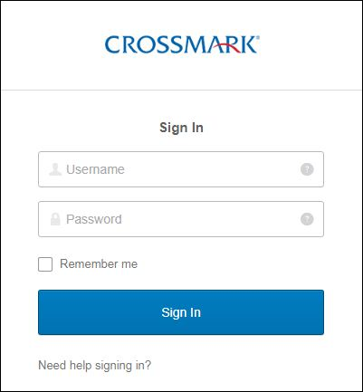Crossmark Connect Login