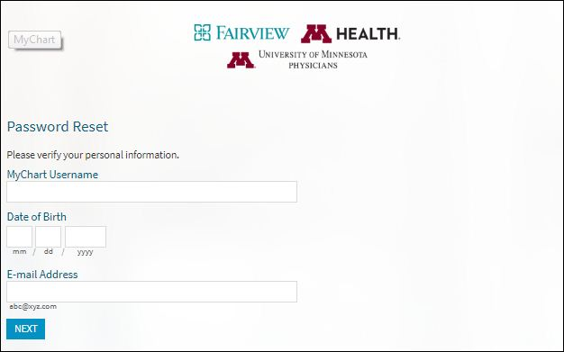 Reset Fairview Mychart Login Password