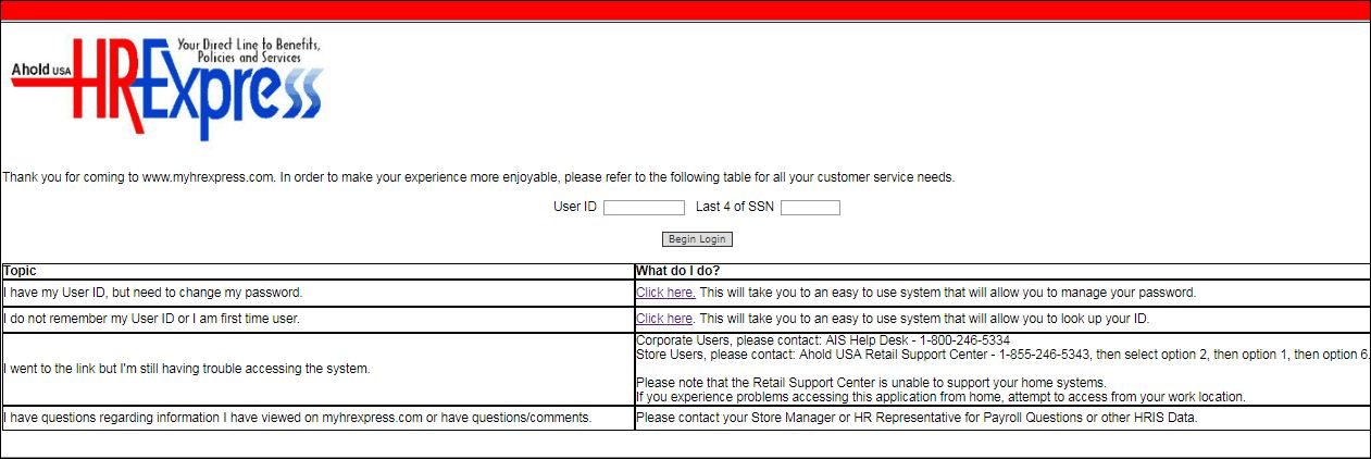 Hr Express Login
