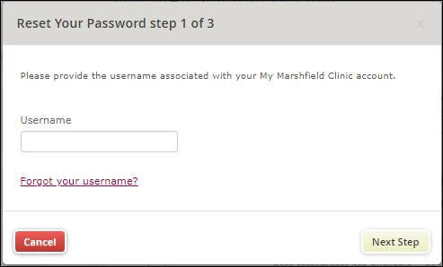 Reset Marshfield Clinic Login Username