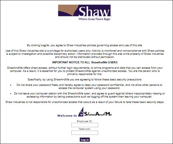 shaw and me login