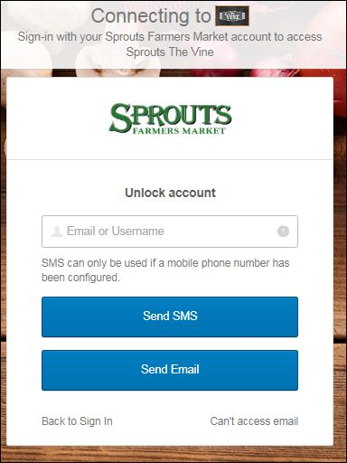 Reset Sprouts Login Password