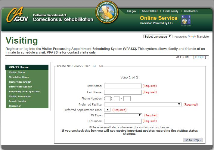 Visitor Processing Appointment Scheduling System Registration
