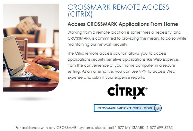 VP Crossmark Salestrak Login