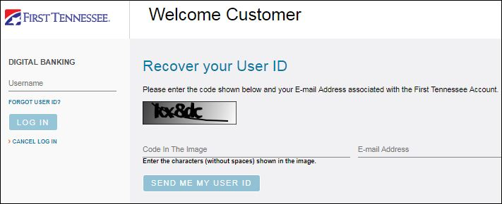 Reset First Tennessee User ID Password