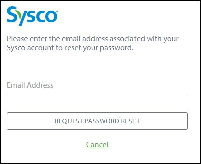 Reset Sysco Accounts Password