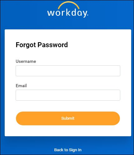 Reset MyHR Workday Login Password
