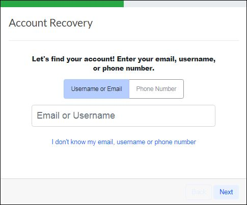 Reset Edmodo Account Username