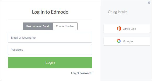 Reset Edmodo Account Password