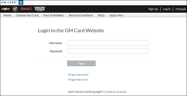 Reset  General Motors Login Password