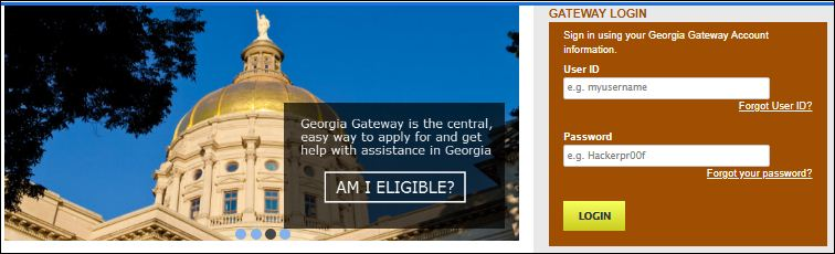 GA Compass Food Stamps Login