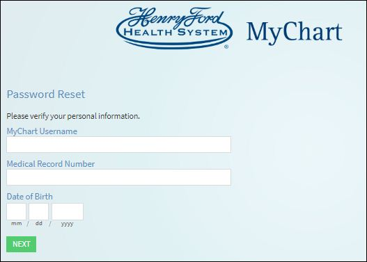 Reset Henry Ford Health System Username