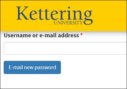 Reset New Kettering Banner Password