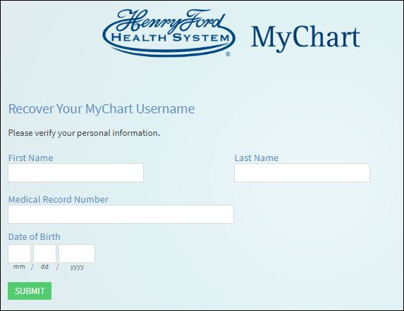 Reset Henry Ford Health System Password