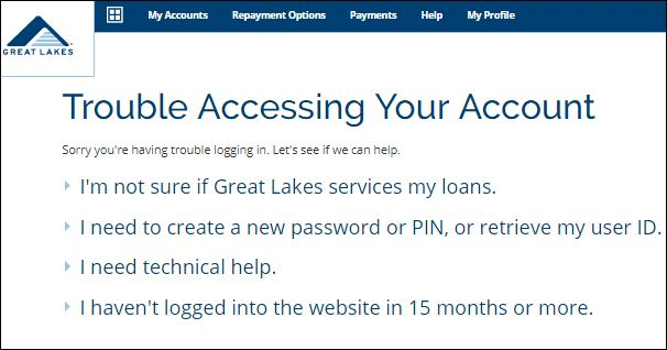 Trouble Accessing Your Account