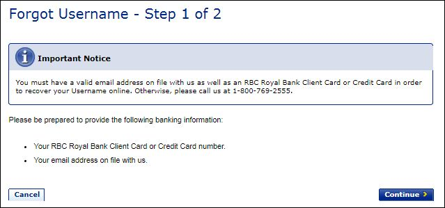 Reset Royal Bank Of Canada Login Password