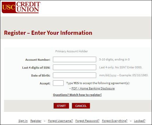 USC Credit Union Account Login
