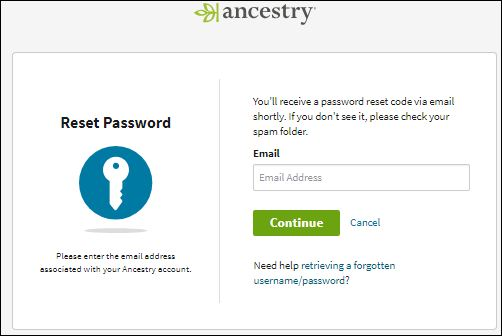 Reset Ancestry DNA Password