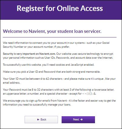 navient student loan login
