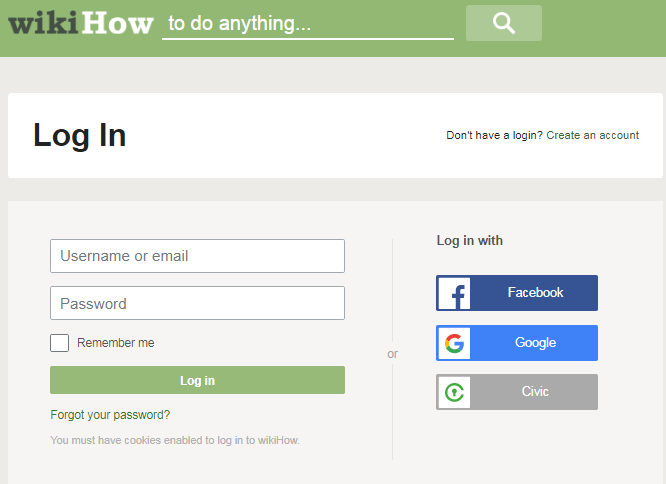 Wikihow Account Login