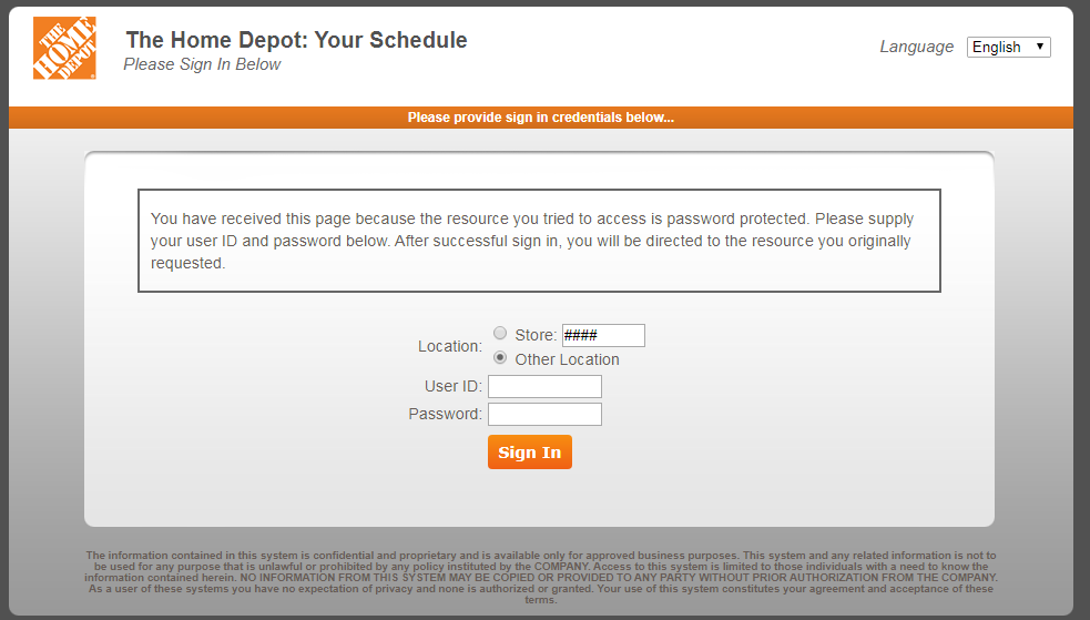 Home Depot ESS Employee Portal for Current Employees Login