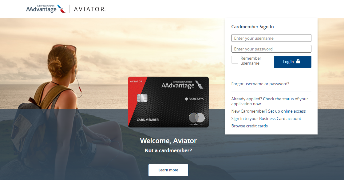 Aviator MasterCard Activate and Login
